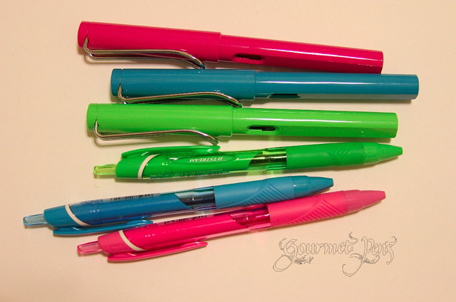 Lamy Safaris and Uni-ball Jetstreams