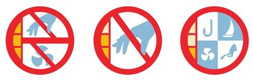 由左而右:第1類「禁止進入或影響」  第2類「禁止採捕」   第3類「分區多功能使用」