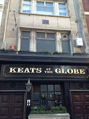 Photo of John Keats blue plaque