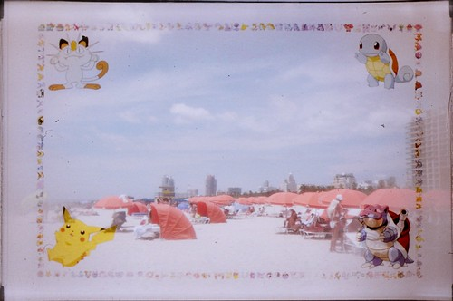 Pokemon Toy Camera On South Beach by Phillip Pessar