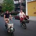 PD and Josh ride cargo bikes at Cargo Bike Roll Call, June 2012 by Steven Vance