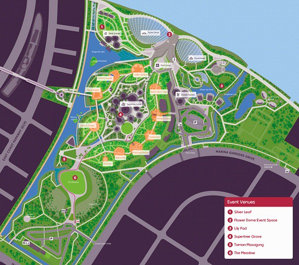 Gardens by the Bay Map