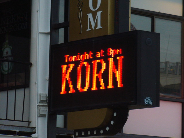 Hampton Beach Korn sign