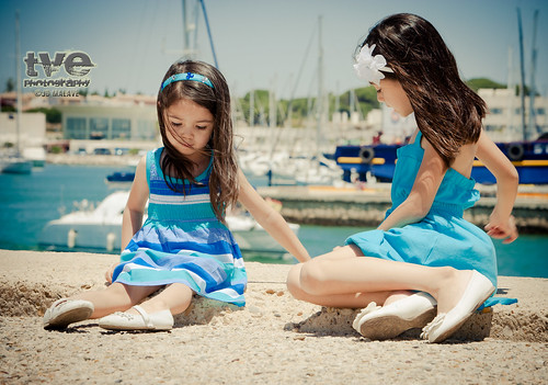 Celeste and Natalie at Puerto Sherry, Spain
