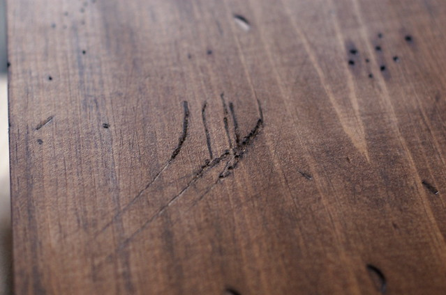 scratches stain