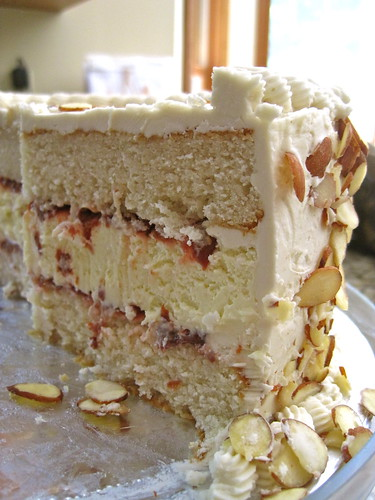 cherry almond wedding cake recipe white almond cake with cherry cheesecake filling tales 12639