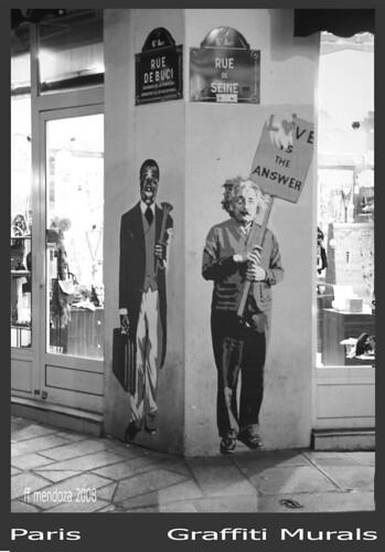 Murales y graffitis/Coin de la Rue  de Buci et  rue de Saine /Paris extraordinario by FFMENDOZA -AUSTRALIA