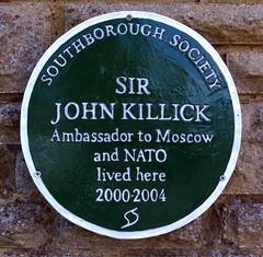 Photo of John Killick green plaque