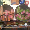 Couple of #lowercasetres #love #cherryblossom painted #record #art #forsale $40 each.