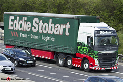 Volvo FH 6x2 Tractor with 3 Axle Curtainside Trailer - KR63 OJG - Diana Jean - Eddie Stobart - M1 J10 Luton - Steven Gray - IMG_7775