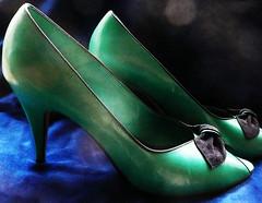 Green Peeptoe Stillettos