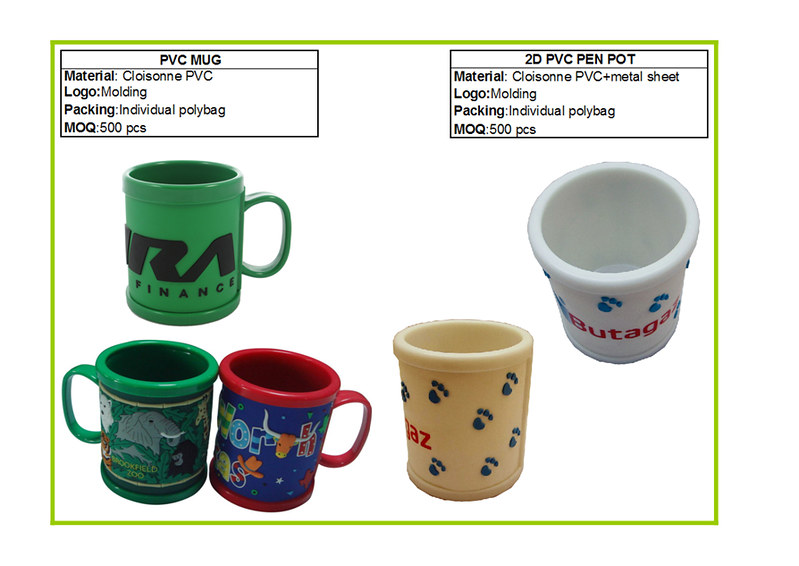 soft pvc with abs mug,pen pot with