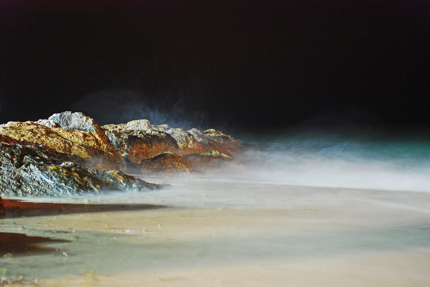 Beach, Night Photography, Long Exposure