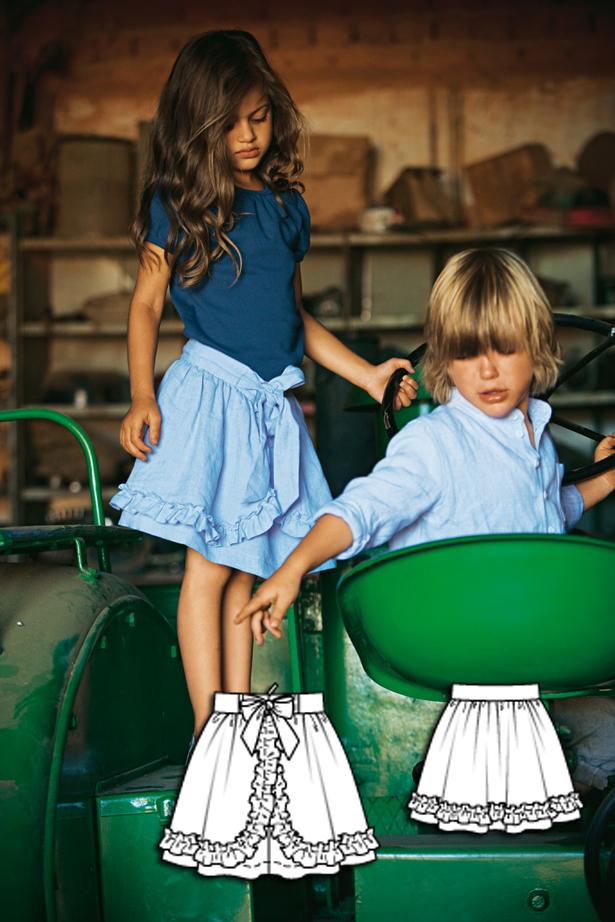 Girls skirt sewing pattern 149 052010