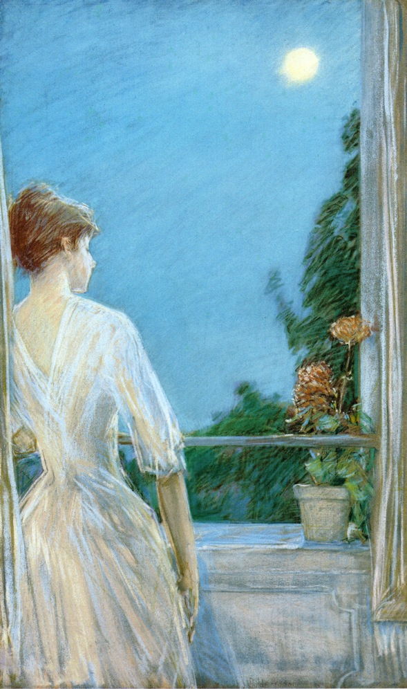 On the Balcony by Frederick Childe Hassam - 1888
