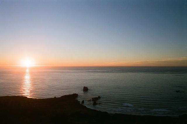 Sunset in Sand Dollar. Big Sur, CA.