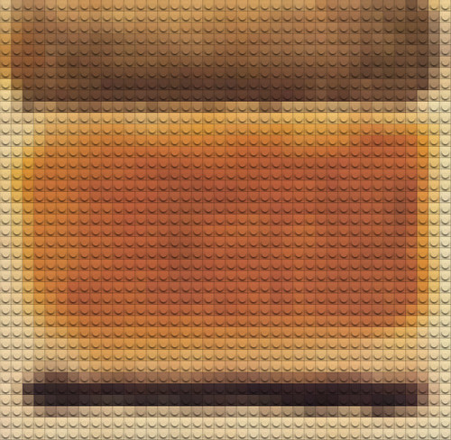 Lego Rothko by William Keckler