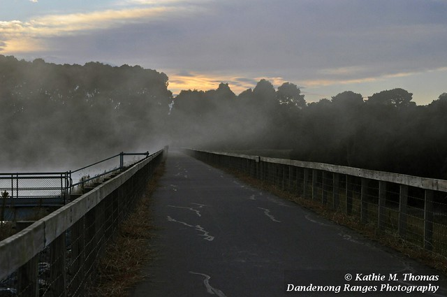 Mist crossing the wall