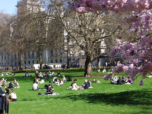 People Enjoying the Spring Sunshine by oatsy40