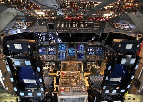 無料写真素材, 乗り物・交通, 宇宙船, スペースシャトル, コックピット, エンデバー オービタ
