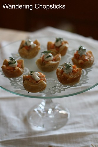 Salmon and Dill Mini Tarts 2