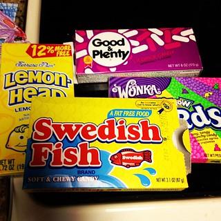 Yum. Birthday candy.