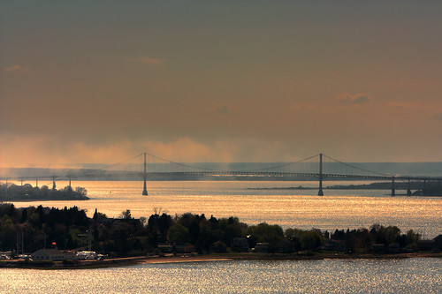 Mount Hope Bridge Under Fog by mike_dooley