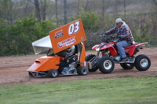 4.27.12 Hi Go Raceway - Push starting Sprint Kart #03