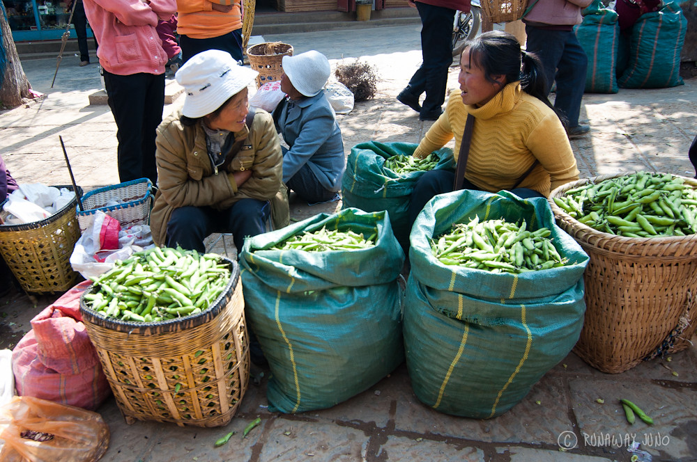 Beans for sale in Shaxi Market