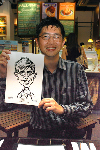 caricature live sketching for emc NUS - 1