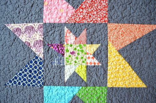 Wonky Baby Quilt - back detail