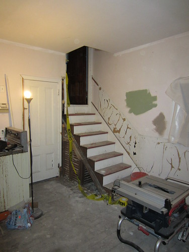 removed wall banister