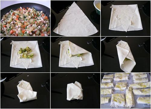 tavuklu sebzeli bohça börek yapılışı