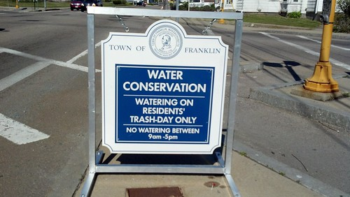 water conservation sign