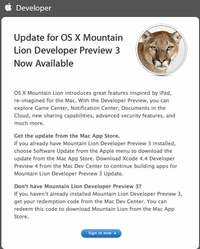 Download OS X 10.8 update
