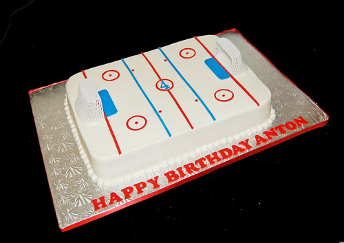 4th Birthday Hockey Rink Cake
