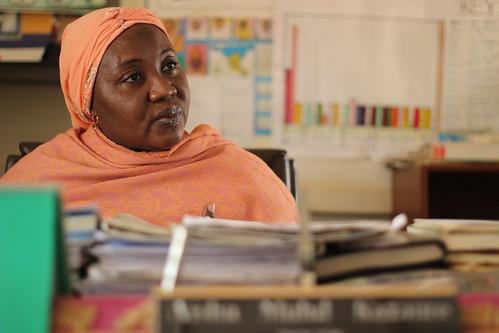 Nigerian woman in school