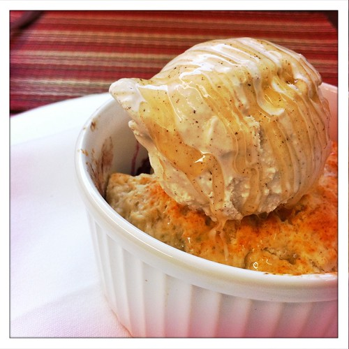 Wine Cask: Blackberry Market Cobbler w/ Cinnamon ice cream
