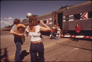 One last photograph before passengers board the Empire Builder at Fargo, North Dakota, June 1974