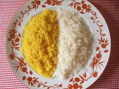arroz amarelo e do outro