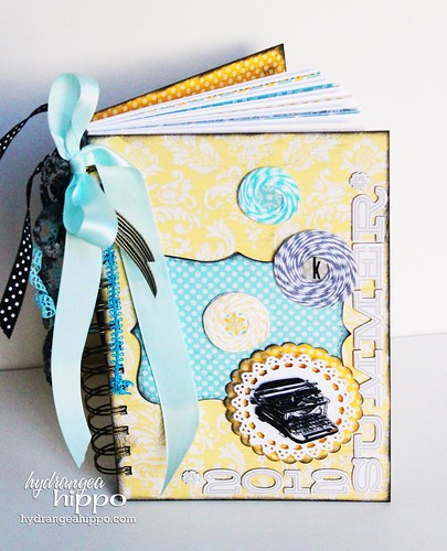 Summer Journal by Jennifer Priest for Tombow and Epiphany Crafts Lily Bee Hydrangea Hippo - COVER