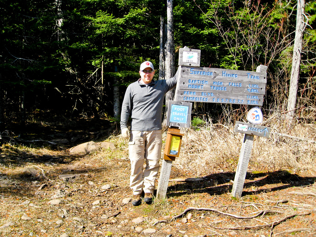 Patrick on Superior Hiking Trail