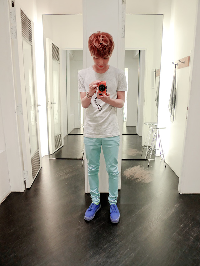 typicalben sky blue pants mirror
