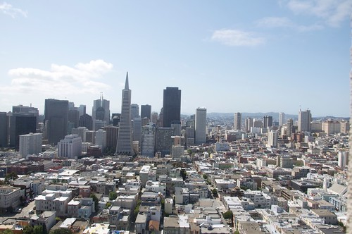 A view of San Francisco from the top of the Coit Tower
