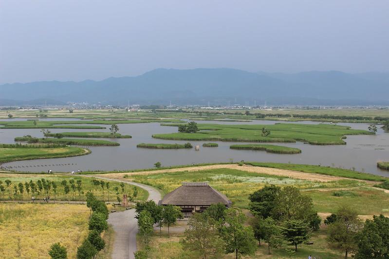 ビュー福島潟からの景色