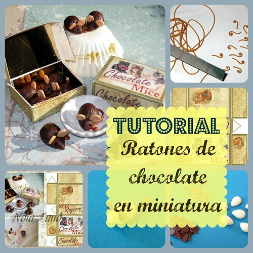 Tutorial. Ratones de chocolate en miniatura