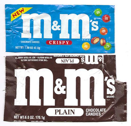 Old M&M's Wrappers