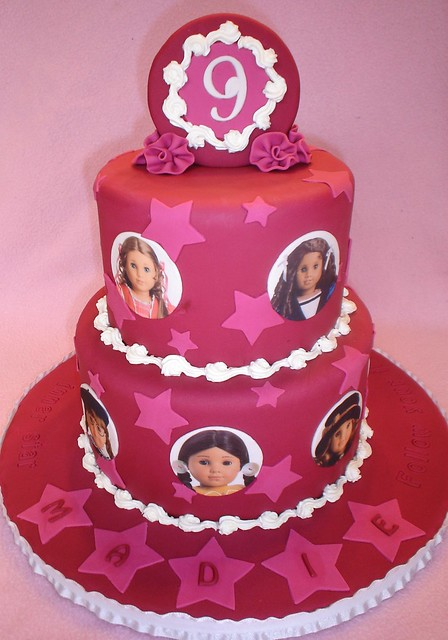 Cake Ideas For Girl S 7th Birthday : Madie s American Girl Cake For a little girl who loves ...