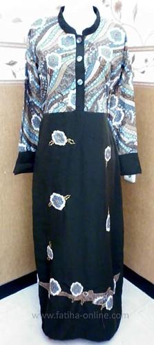 gamis batik kombinasi sarimbit 2