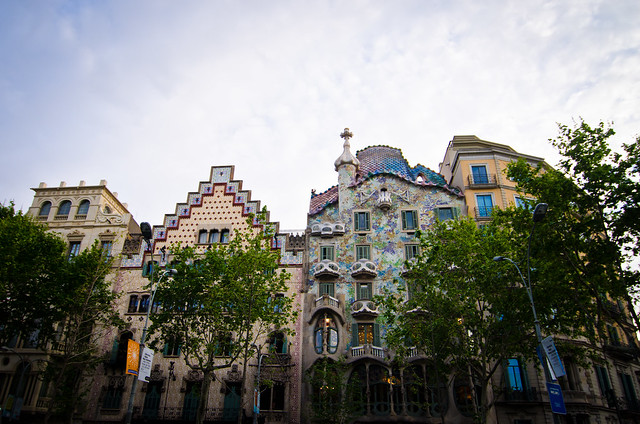Breathtaking architecture in Barcelona, Gaudi's Casa Battlo.